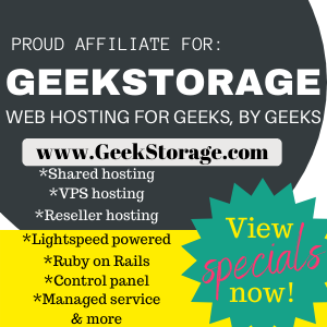 Affiliate link for cheap webhosting GeekStorage
